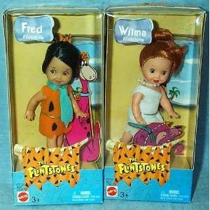 Barbie Kelly Fred and Wilma Flintstones 4 Dolls Toys & Games