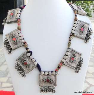 RARE ANTIQUE ETHNIC TRIBAL OLD SILVER NECKLACE PENDANT