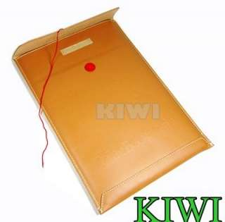 Brown PU Leather Envelope Bag/Sleeve/Case for NEW macbook AIR 13.3 13