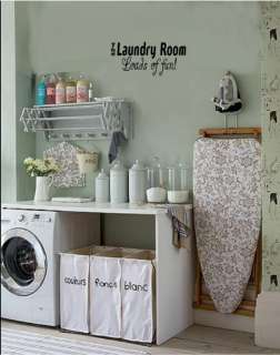 Laundry Room Wall Words Letters Stickers Decal