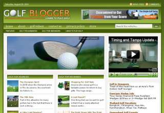 Money Making GOLF Blogger Wordpress Website + BONUS