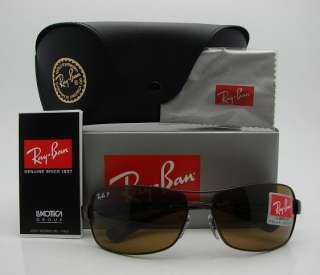 RAY BAN Polarized Brown Sunglasses 3379   014/57 *NEW*