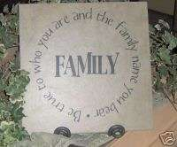Vinyl lettering word wall decor Family circle LDS craft