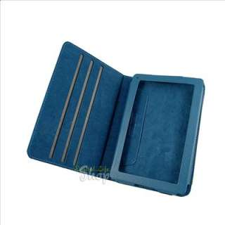 Blue 360 Degree Rotary Leather Stand Case Cover for  Kindle Fire