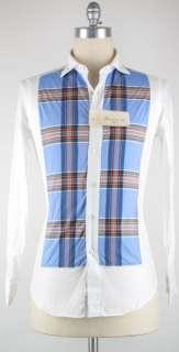 New $375 Finamore Napoli Light Blue Casual Shirt 15.75