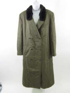 KENZO Mens Olive Green Double Breasted Trench Coat 42