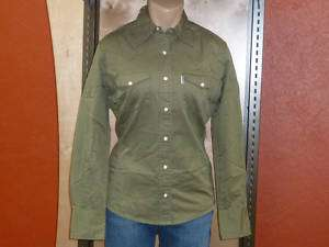 NEW Carhartt Womens Work Wash Twill Snap Front Shirt