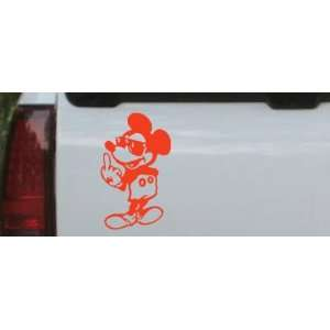 Mickey Mouse (bird) Cartoons Car Window Wall Laptop Decal