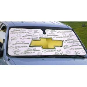 Chevrolet Racing   Cool White Front Window Car Sun Shade