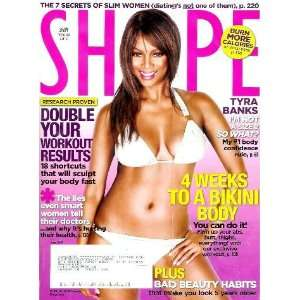 Shape Magazine   June 2007 TYRA BANKS Cover + Feature