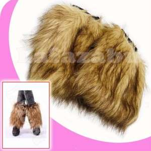 Fashion Lady Winter Faux Fur Leg Warmer Boot Sleeve Cover Sock #Short