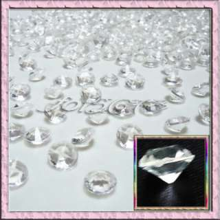 500PCS 4ct 10mm Clear Diamond Confetti Wedding Table Party Decoration