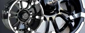 Fairway Alloys Sixer Golf Cart (4) Wheels/Rim 12x6.5