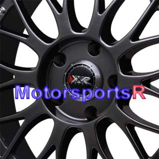 18 XXR 521 Chromium Black Polished Lip Rims Staggered 90 91 96 Nissan