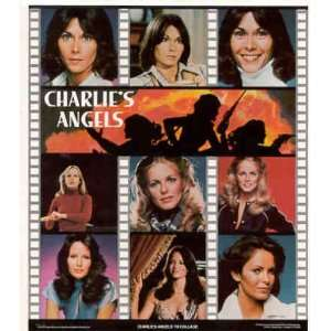 1978 Collage Sticker Poster Jaclyn Smith, Cheryl Ladd, Kate Jackson