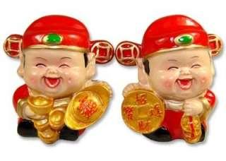 Pair of Chinese God of Wealth Feng Shui Tsai Shen 16835