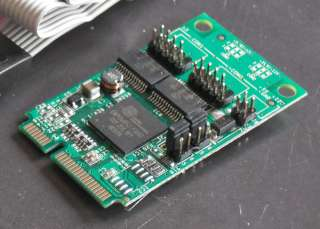 Port RS232 Mini PCI Express Serial 16C950 Card w/ Power