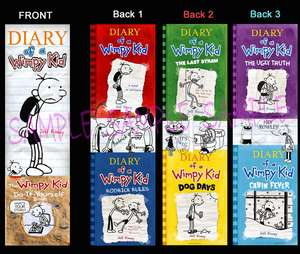 DIARY of a WIMPY KID BOOKMARK Dog Days Book Marker Cabin Fever the