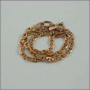 Solid Pink Rose Russian Gold Ladys Bracelet Chain 1.25 g 585