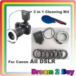 LED Light for Canon 550D 50D 5DII DSLR / Sony +3 in 1 Clean kit