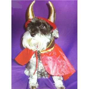 Pet Dog Devil Create a Costume Kit with Horns and Cape