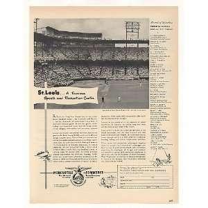 St Louis Baseball Sportsmans Park Mercantile Commerce Bank Print Ad