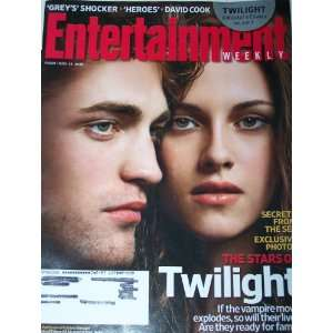 : EW Magazine Twilight Robert Pattinson & Kristen Stewart, David Cook