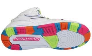 Air Jordan Flight 45 High Top White Girl Pink Flash Sport Shoes 12 Us