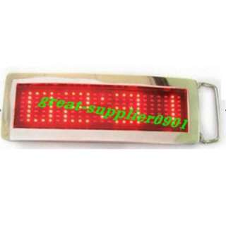 Fashion 7x23 Dot matrix LED text scroll sign display Belt Buckle