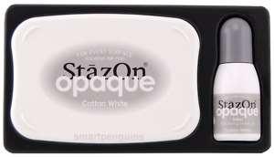 Tsukineko StazOn Opaque Cotton White Solvent Ink Pad St