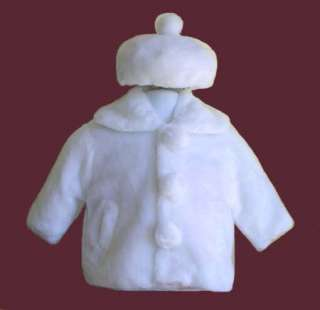 BRAND NEW white girls holiday faux fur jacket/coat is perfect for