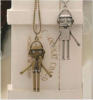 Korea Vintage Style Android Robot Sweater Necklace LS01