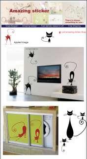 Cat Animal Children Art Wall Stickers/Wall Decals 9 pcs