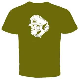 Marijuana Weed T shirt Cannabis High Captain drugs