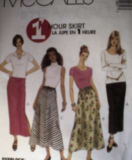UNCUT McCalls Pattern 1 Hr A Line Straight Skirt 8716