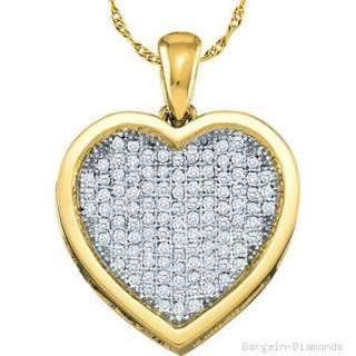 diamond heart gold pendant love promise faith purity