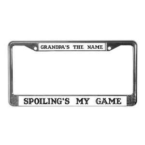 Grandpas Name 4 Funny License Plate Frame by CafePress