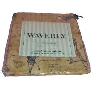 Waverly Ponited Tab Top Valance Vintage Golf Theme Home