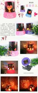 Pink Star Lover Projector LED Projection Light Valentine Romantic Gift