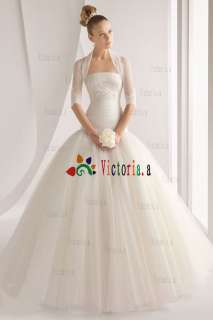 Custom White/Ivory Applique Wedding Dresses/Gowns Size4 6 8 10 12 14