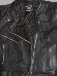 AL2101 Black Ladies Leather Classic Motorcycle Biker Jacket