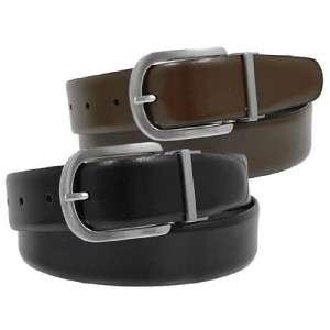 Joseph Abboud Mens Reversible Brown/Black Leather Belt