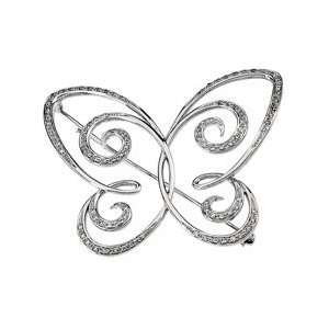 14k White Gold Diamond Brooch 1/2ct   JewelryWeb Jewelry