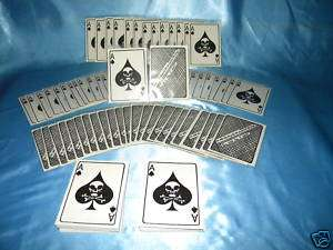 50 VIETNAM ACE OF SPADES DEATH CARDS + 50 SLEEVES