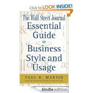 The Wall Street Journal Essential Guide to Business St (Wall Street