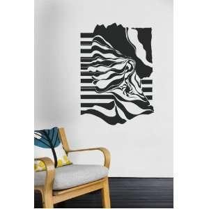Wall Mural Art Decor Vinyl Decal Sticker Girl Zebra V10