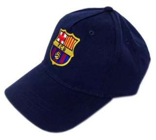 OFFICIAL FC BARCELONA CREST BASEBALL CAP HAT NAVY NEW