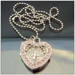 HOT 1pcs Cute Pink Heart Crystal Diamond Charm Watch kids gifts