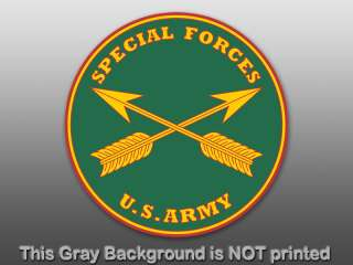 Round Special Forces Seal Sticker  decal logo us army 1