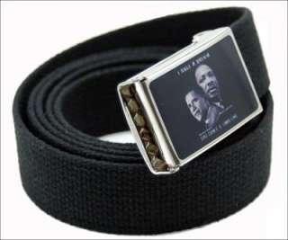 Barack Obama / Dr. King Jr. Canvas web Belt & Buckle